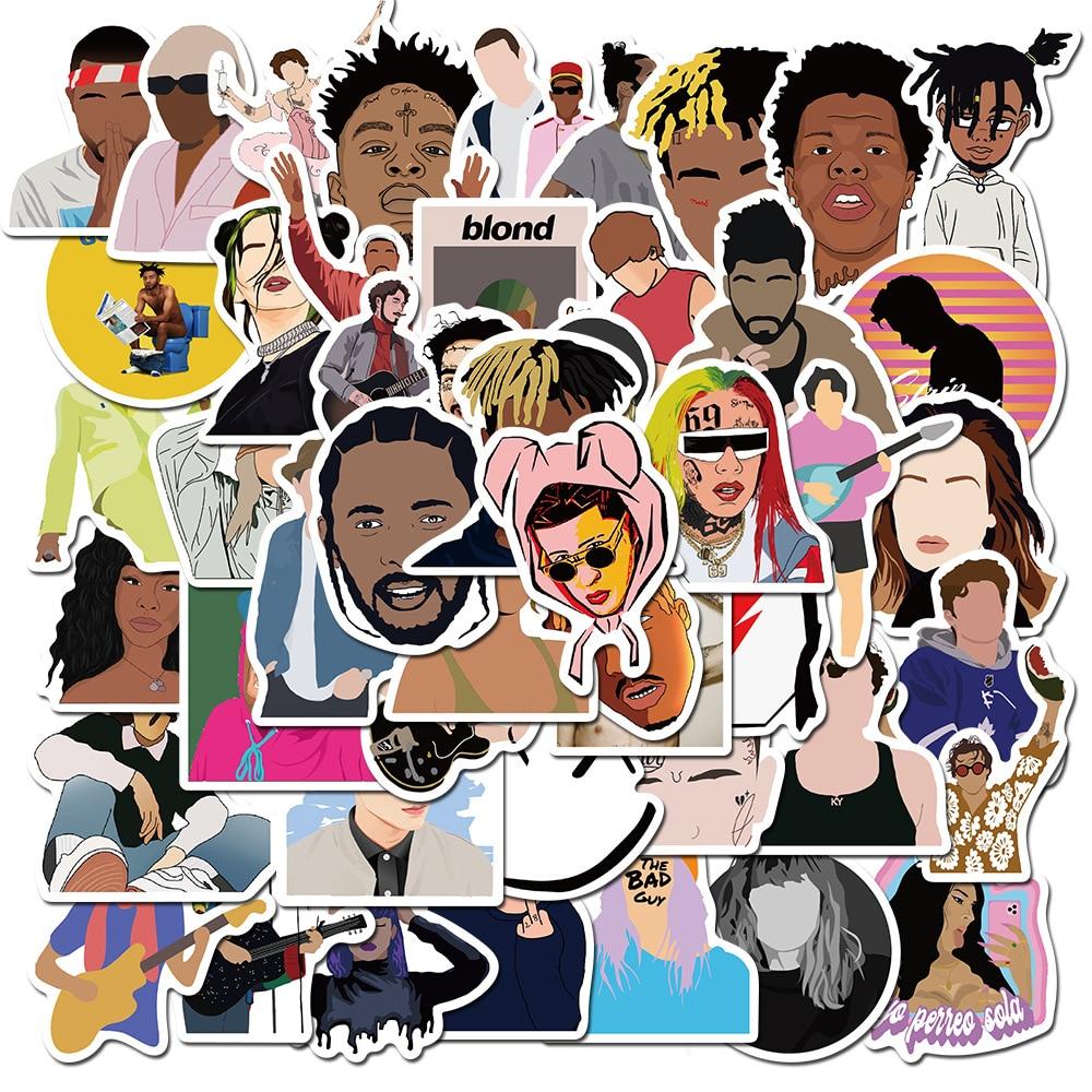 50PCS Singer_Rapper Collection Stickers