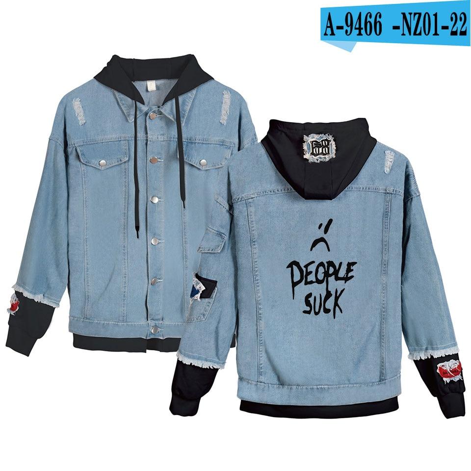 Xxxtentacion Hooded Denim Jacket