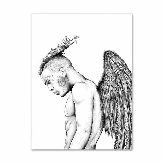 XXXTentacion Rapper Wall Artwork Painting