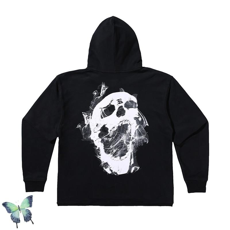 Revenge Skull Pattern Hoodie