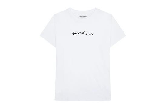 sincerely xxxtentacion shirt